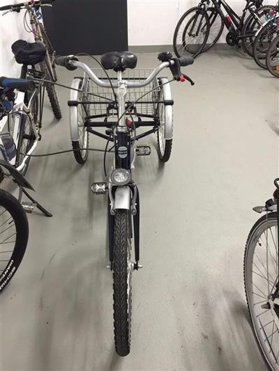 24 Zoll Dreirad fur Erwachsene Erwachsenendreirad Seniorenrad Blau mit 7 Gang Duesseldorf