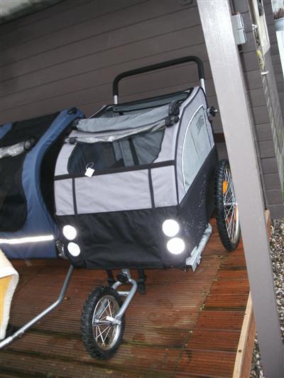 2 in 1 Jogger Fahrradanhaenger Doggy Liner Kinderanhaenger Fahrrad Frankfurt