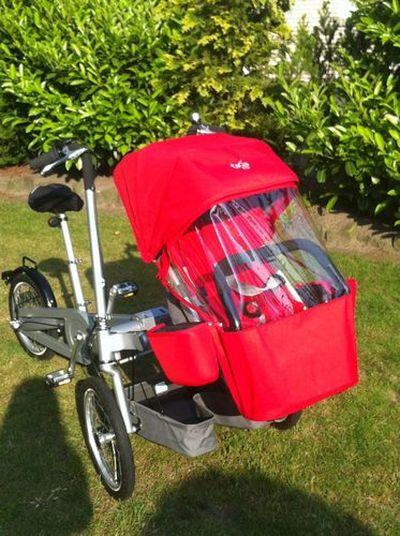 taga mutter kind fahrrad bike dreirad buggy. Black Bedroom Furniture Sets. Home Design Ideas