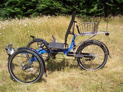 anthrotech trike signalblau fahrrad dreirad liegerad. Black Bedroom Furniture Sets. Home Design Ideas