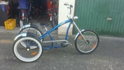 chopper bike dreirad erwachsene dreirad Einzelstueck  Waghaeusel