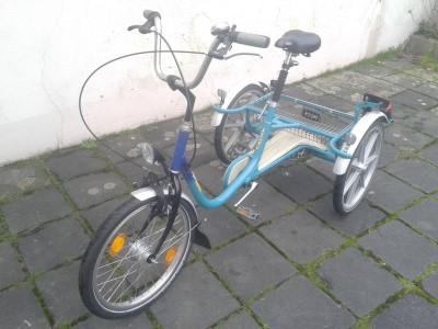 Dreirad 3 Rad Fahrrad Behinderten Spezial Fahrzeug Nabendynamo LED Invaliden Essen