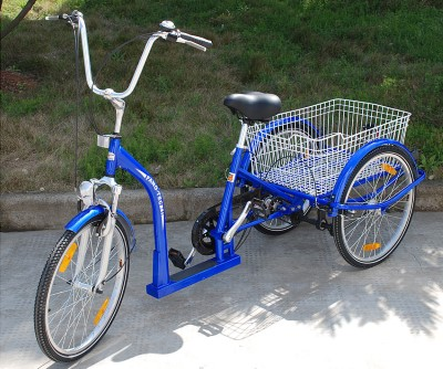 Dreirad Erwachsene Tiefeinstieg blau V Brake 3Gang Nabenschaltung 24 Abholung Pinneberg