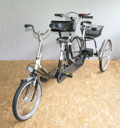 dreirad fahrrad wulfhorst duo luna 2 i 24 tandem dreirad neuwertig hamburg archiv verkaufter. Black Bedroom Furniture Sets. Home Design Ideas