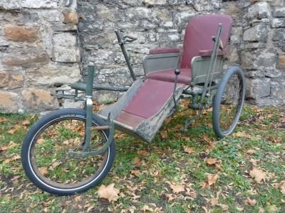 Dreirad Kriegsversehrten Rollstuhl Oldtimer Historisch Behinderten Fahrrad Erfurt