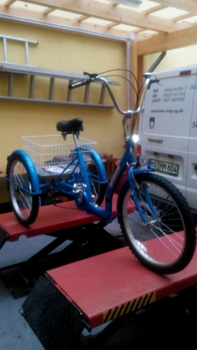 Dreirad mit Tiefeinstieg blau Shopping Fahrrad Dreirad fuer Erwachsene mit Korb  Ludwigshafen