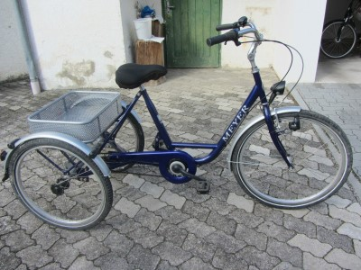 dreirad transportrad gepaeckrad fahrrad fuer senioren. Black Bedroom Furniture Sets. Home Design Ideas