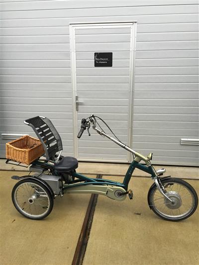 Elektrisches Therapeutisches van Raam easy Rider Dreirad Liegerad mit Heinzmann Ahaus