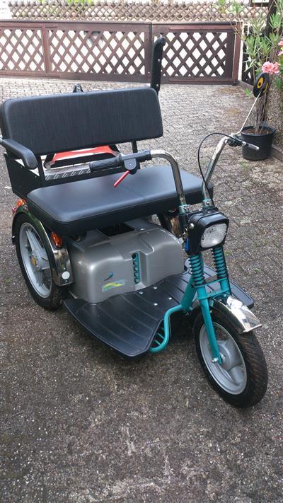 Elektromobil SuperSport 15 km h Dreirad das ultimative Fahrzeug Schwetzingen