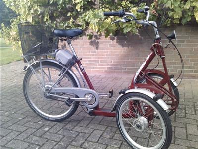 Front Dreirad Seniorenrad Behinderten Dreirad mit Motorunterstuetzung Woltersdorf