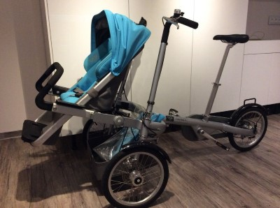 Kindertransport Fahrrad Taga Bike Buggy mit Regenschutz Hamburg