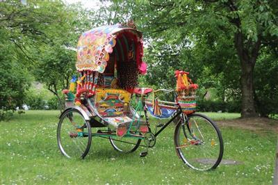 original Bangladesh Rikscha mit Staufach Fair Apparels Ltd 28 Fahrradrikscha Dresden