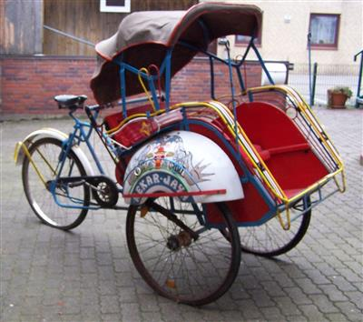 original indonesische fahrrad rikscha vornesitzer becak bokel archiv verkaufter gebrauchter. Black Bedroom Furniture Sets. Home Design Ideas