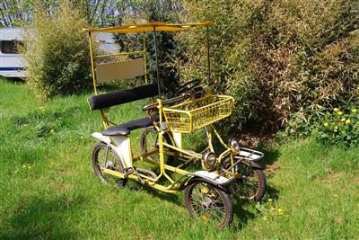 parallel tandem vierrad rikscha velotaxi insel poel. Black Bedroom Furniture Sets. Home Design Ideas