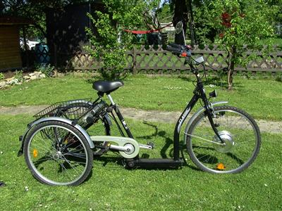 Pfau Tec Elektro Fahrrad Dreirad fuer Erwachsene mit Elektromotor und Akku Stuttgart