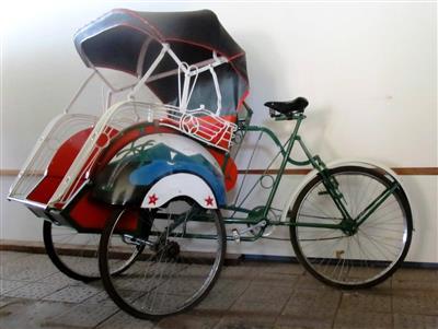 Rikscha traditionell Lastenrad Dreirad 252cm Lichtenstein Sachsen