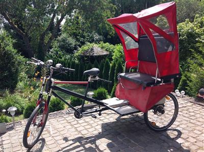 Rikscha Velotaxi Transportrad Lastenrad Fahrradrikscha Dreirad Saarbruecken