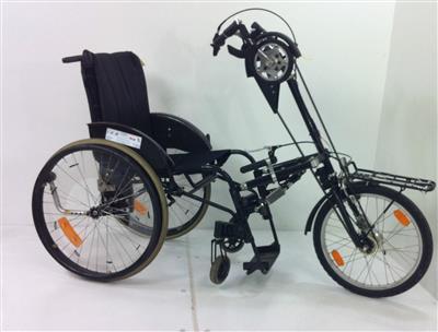 Rollstuhlfahrrad Aktivrollstuhl Fahrrad Stricker Handbike Sitzbreite 43cm 3366 Holthusen