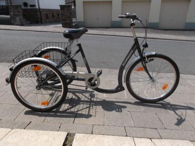 ruhrwerk dreirad fahrrad 61cm 24 26 zoll 7 gaenge korb. Black Bedroom Furniture Sets. Home Design Ideas