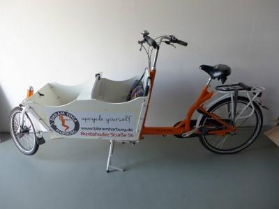 Transportrad Lastenrad Cargobike wie Bakfiets von Troy Cycles Hamburg