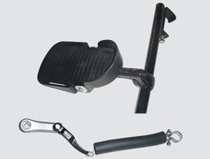 Protesenstütze mit Rückholkurbel